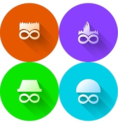 Colored abstract icons for characters vector image