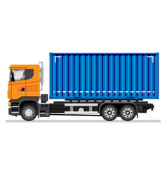 container vehicle isolated on white background vector image