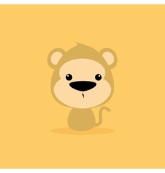 Cute Cartoon Wild monkey vector image