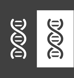 Dark grey dna helix icon vector