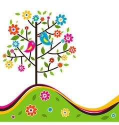 Decorative floral tree vector