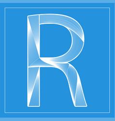 Decorative font stylized letter r vector