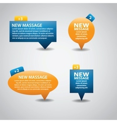 Detailed bubbles New message for web or app vector image
