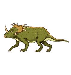 dinosaur triceratops skeletons fossils vector image