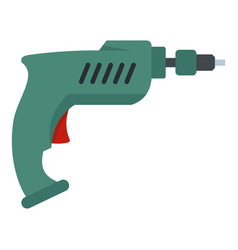 Drill icon isolated vector