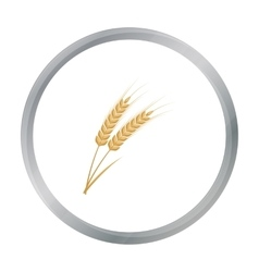 Ears of wheat pasta icon in cartoon style isolated vector
