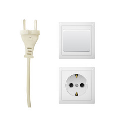 Electrical adapter with outlet and switch vector