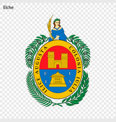 emblem of elche city of spain vector image