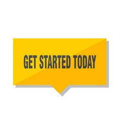 get started today price tag vector image