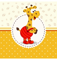 Giraffe in pants vector