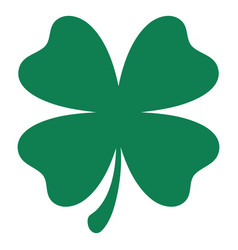 Green shamrock clover icon st patrick day vector