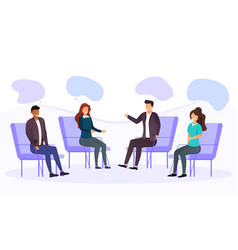 group therapy addiction treatment concept vector image