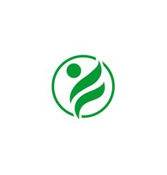 human character logo template vector image