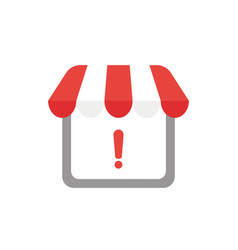 icon concept of shop store with awning and vector image