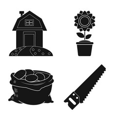 Isolated object of farm and agriculture symbol vector