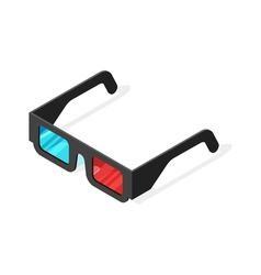 Isometric of 3d glasses vector image