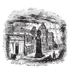 Kailash temple vintage vector