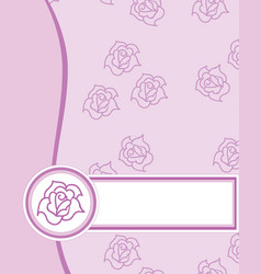 Label rose texture vector
