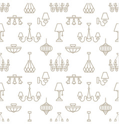 Light fixture lamps seamless pattern line vector