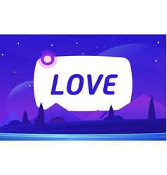 love night environment with sky clouds vector image