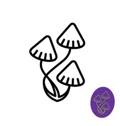Magic psilocybe mushrooms logo vector