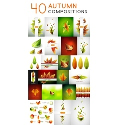 Mega set of autumn concepts vector image