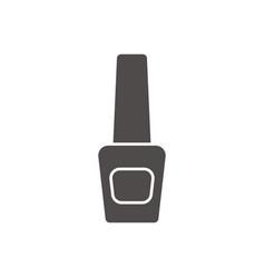 Nail polish bottle glyph icon vector