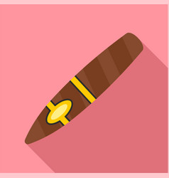 Nicotine cigar of cuba icon flat style vector