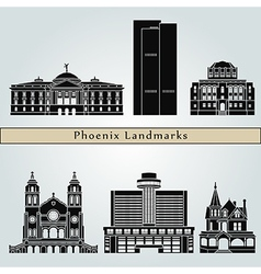 Phoenix landmarks and monuments vector