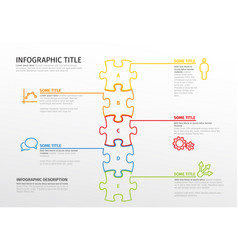 puzzle infographic template vector image