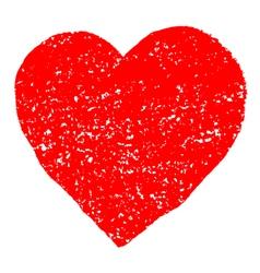 Red Valentine Heart Grunge Background vector