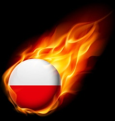 Round glossy icon of poland vector image