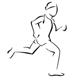 Running man vector image