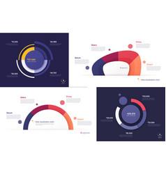 set circle chart designs modern vector image