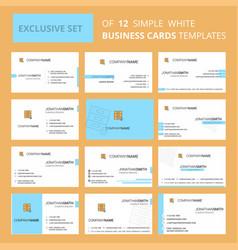 set of 12 locked cupboard creative busienss card vector image