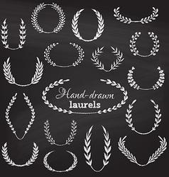set of chalk wreaths vector image