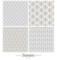 set of flourishes seamless pattern backgrounds vector image