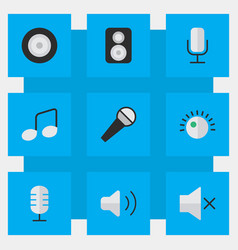 Set of simple sound icons vector