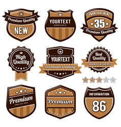 set retro badges vector image