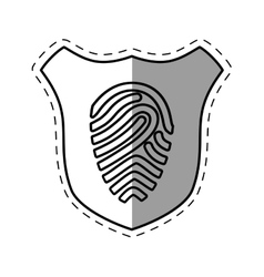 Shiled protection fingerprint secure system line vector