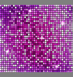 shining abstract pink mosaic background shiny vector image
