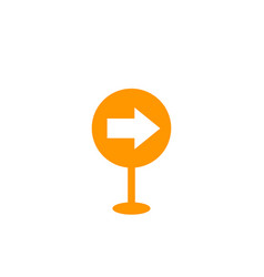 sign with arrow icon on white vector image