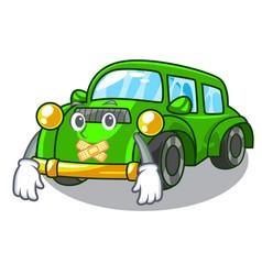 Silent classic car toys in cartoon shape vector
