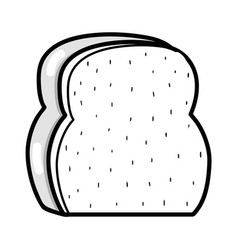 Silhouette delicious and fresh chopped bread vector