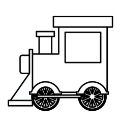 Silhouette locomotive toy flat icon vector