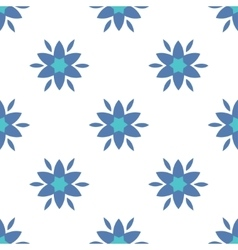 Simple flowers seamless pattern vector