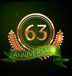 sixty three years anniversary celebration design vector image