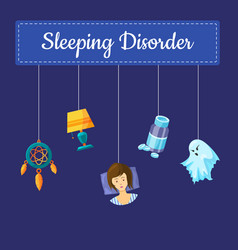 sleeping disorder concept vector image