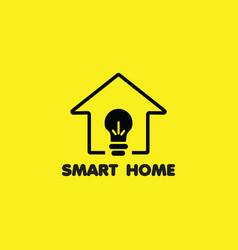 Smart home logo template design vector