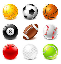 Sport balls icons set vector